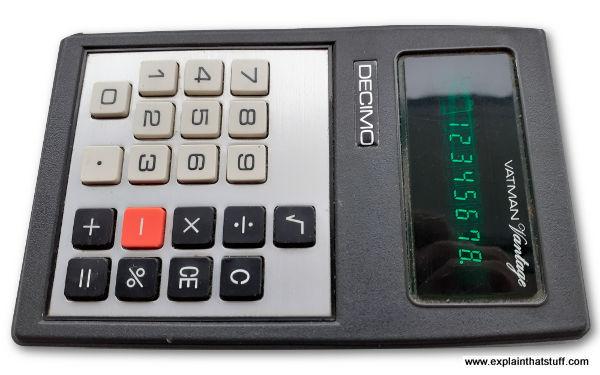 Decimo Vatman calculator from the mid-1970s