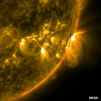Active region loops. Plasma eruptions and looping arches on the Sun, as viewed by the NASA SDO Slar Mission