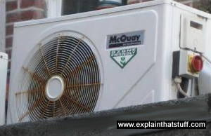 White McQuay air conditioner outside restaurant