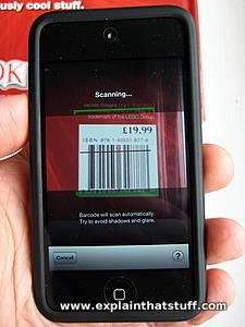 Scanning a barcode with the Amazon app on an iPhone/iPod