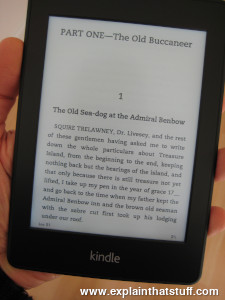 Amazon Kindle Paperwhite electronic book (e-book) reader