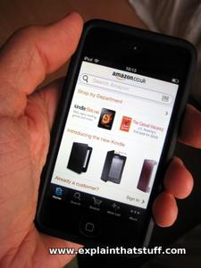 Screenshot of Amazon.com mobile app on iPod Touch