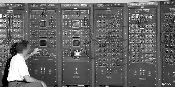 Photo of analog computer c.1949 by NASA