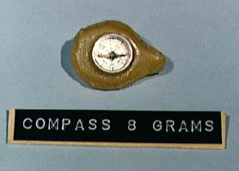 Magnetic compass used by astronauts in the 1960s.