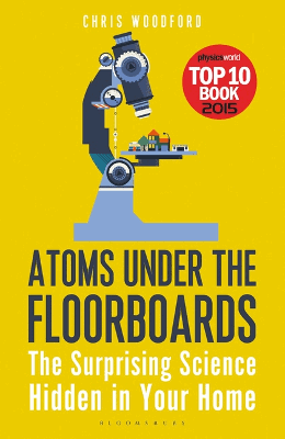 Atoms under the floorboards paperback book cover.
