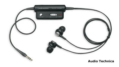 Audio Technica noise isolating headphones, model ANC3.