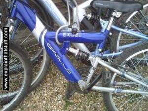 A mountain bike frame