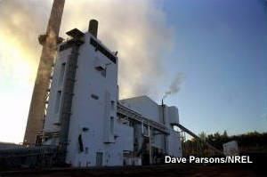 A power plant running on biomass at Burlington, Vermont.