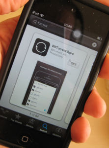 Using BitTorrent on a mobile device with the BitTorrent Sync app