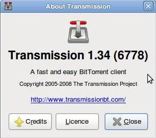Transmission: screenshot of Linux BitTorrent client