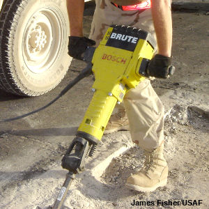 How do jackhammers and pneumatic drills work?