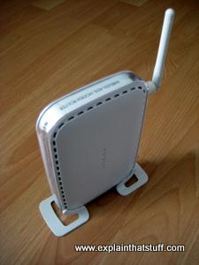 A wireless broadband Netgear router