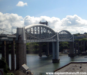 Prince Albert Railroad Bridge over the River Tamar, Cornwall, England, by Isambard Kingdom Brunel.