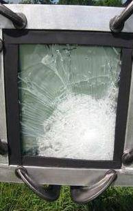 USAF public domain photo of bulletproof glass