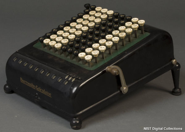A Burroughs mechanical desktop calculator from the NIST Digital Archives