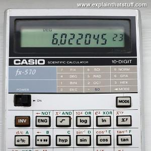 Display of a Casio calculator