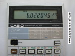 Display of a Casio calculator