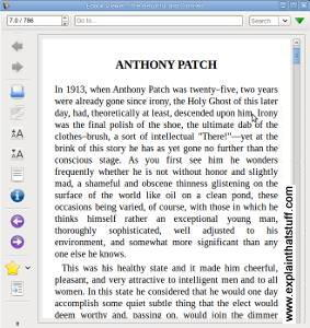 Screenshot of Caliber ebook.