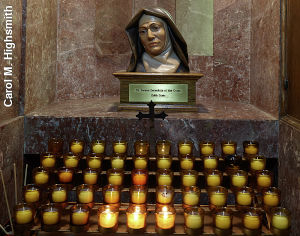 Votive candles at the National Shrine of the Little Flower Basilica in Royal Oak, Michigan by Carol M. Highsmith