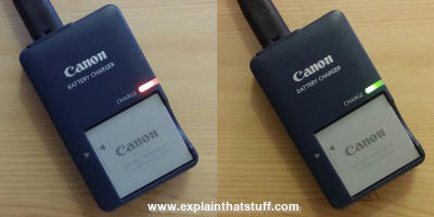 A Canon battery charger for Ixus digital cameras.