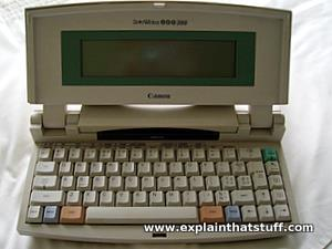 Canon Starwriter electronic typewriter word processor
