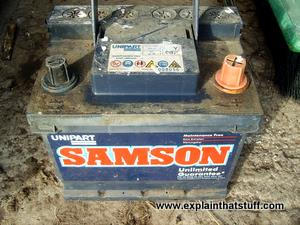 A typical car battery