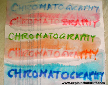 Chromatography makes ink smudge on wet paper