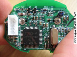 Electronic circuit from a webcam