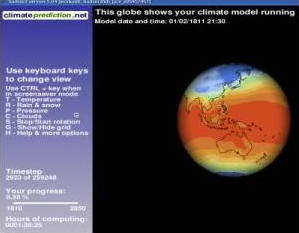 example model from climate prediction.net