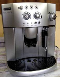 A DeLonghi Magnifica bean-to-cup coffee maker
