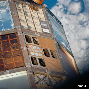 Photo of polymer Matrix Composite Materials Experiment, Space Shuttle, 1990