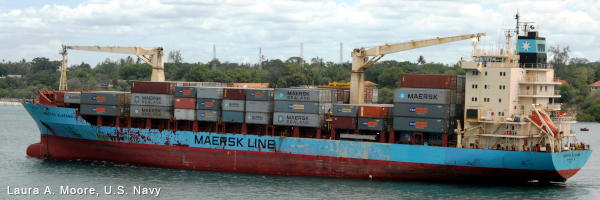 Maersk Alabama, now called MV Tygra, container ship photographed in 2009