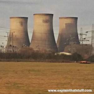 Cooling towers on a power plant in Didcot, England.
