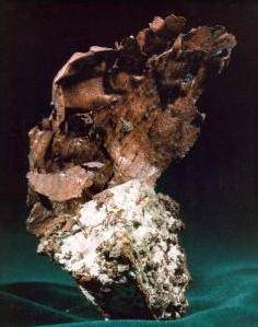 A specimen of copper ore