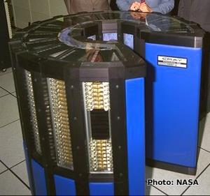 Cray-2 C-shaped supercomputer unit