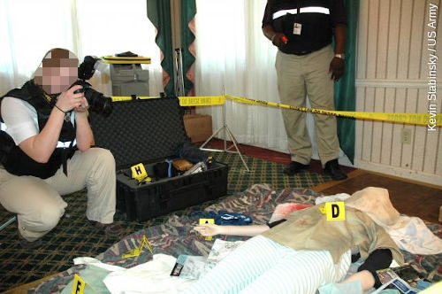 Numbering pieces of evidence at a crime scene