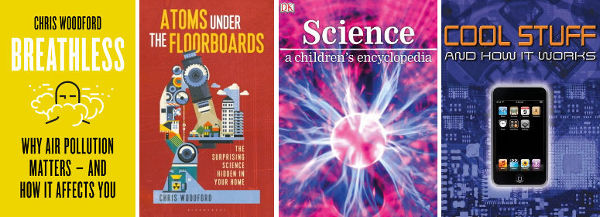 Covers of four recent books by Chris Woodford.