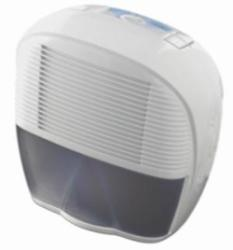 A compact home dehumidifier made by DeLonghi
