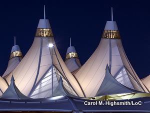 Teflon-coated roof of Denver International Airport