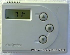 Electronic room thermostat thermometer