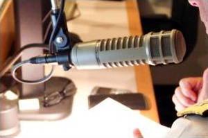A professional DJ microphone