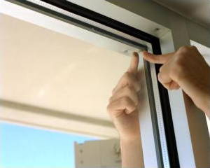 Double glazing air gap reduces heat loss.