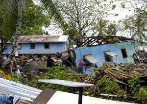 Earthquake damage in the Solomon Islands 2007