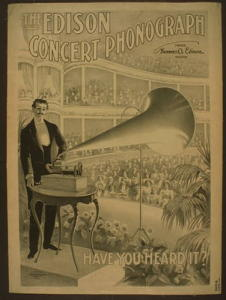 Advertisement for the Edison concert phonograph