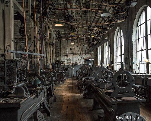 Thomas Edison's machine shop at West Orange, New Jersey. Photo by Carol M. Highsmith.