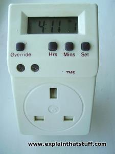 A plug-in Smiths time switch for controlling ordinary home appliances.