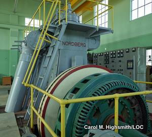 Electricity generator at REA Power Plant Museum near Hampton, Iowa by Carol M. Highsmith