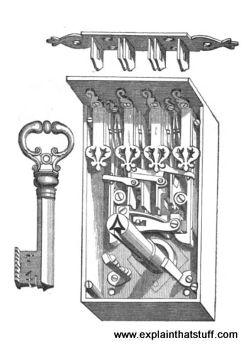 An Elizabethan link plate chest lock.