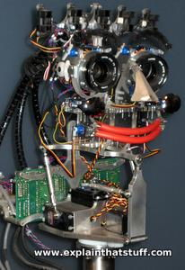 Emo emotional robot with a computer-controlled mouth and eyes