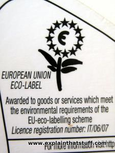 Example of an EU eco label.